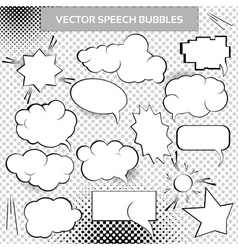 Comic design elements vector image