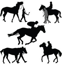 jockey and horse vector image