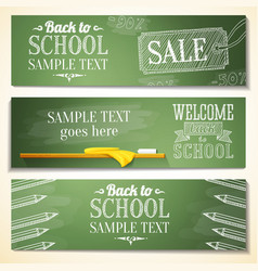 Set of school banners with sample text place for vector image