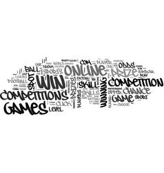 win a car online text word cloud concept vector image vector image