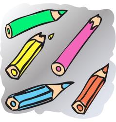 Broken pencils vector image