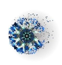 Colorful shape molecular construction vector image