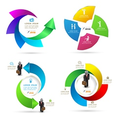 Design rotation template graphic set vector image vector image