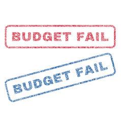 Budget fail textile stamps vector