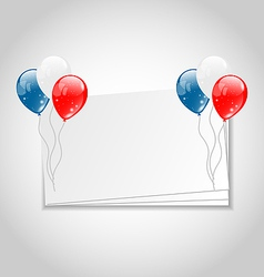 Celebration card with balloons for Independence vector image vector image