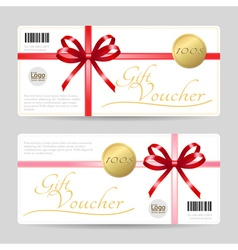 Gift card or gift voucher template vector image