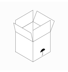 Keep dry packaging symbol icon isometric 3d style vector image