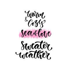 modern lettering inspirational hand lettered set vector image