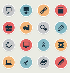 set of simple icons icons vector image