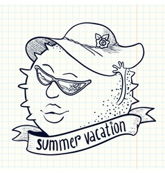 sun girl character vector image