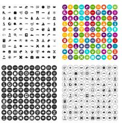 100 oceanologist icons set variant vector