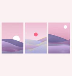 Abstract minimal gradient landscape set template vector