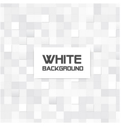Abstract mosaic square white background ima vector