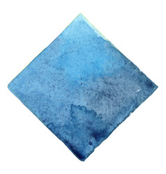 Abstract sky blue and indigo square watercolor vector