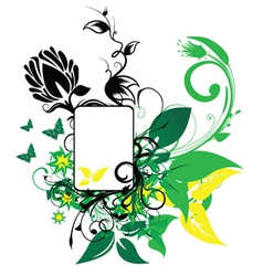 Abstract spring floral frame vector
