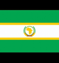 African union flag vector image
