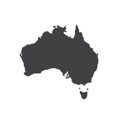 Australia map silhouette vector image