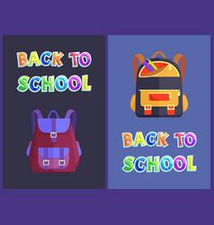 Back to schools bags satchels vector