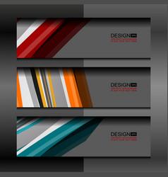 banner modern template background vector image
