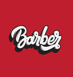 barber handwritten lettering template for card vector image