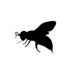 Bee insect black silhouette animal vector