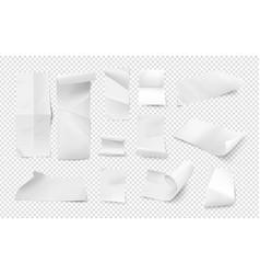 bills blank empty receipt isometric paper sheets vector image