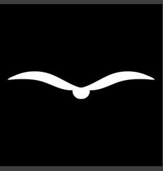 bird white color icon vector image
