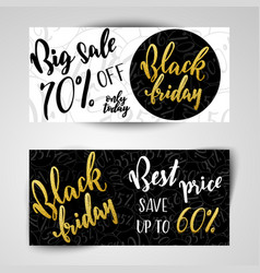 black friday sale banners vector image