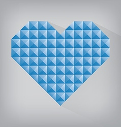Blue retro heart triangle abstract love valentine vector
