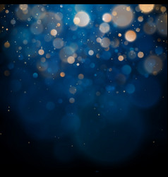 Blurred bokeh light on dark blue background vector