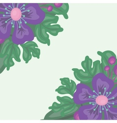 Bright floral background with space for text vector