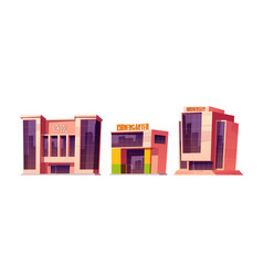 buildings school kindergarten and university vector image