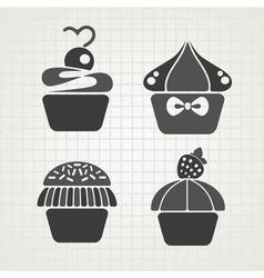 cakes symbols vector image