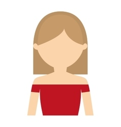 character woman modern style vector image