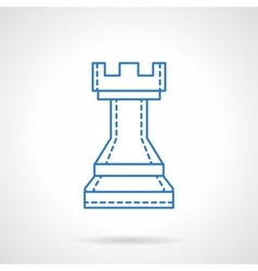 Chess blue flat line icon vector image