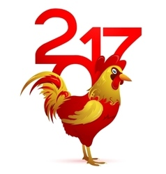 Chinese New Year 2017 with Rooster vector image