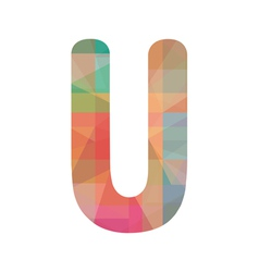 Colorful alphabet U vector