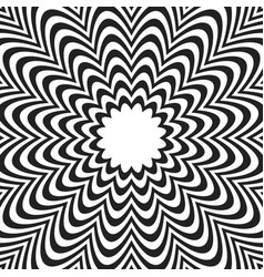 Concentric lines with distortion radial lines vector