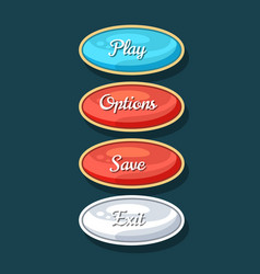 creative navigation board for computer game menu vector image