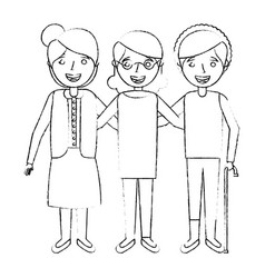 cute group the grandmothers women character vector image