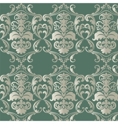 Damask luxurious floral ornament pattern vector