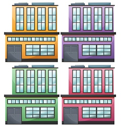 Different house designs vector image
