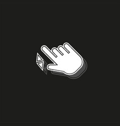 Double tap finger - pointer icon - cursor symbol vector