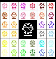 Ferris wheel sign felt-pen 33 colorful vector
