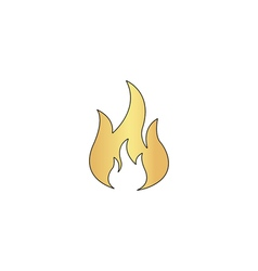 Fire computer symbol vector image