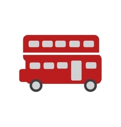 flat icon on white background double decker bus vector image