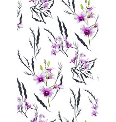 Floral seamless pattern with different flower vector