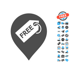 Free tag marker icon with free bonus vector