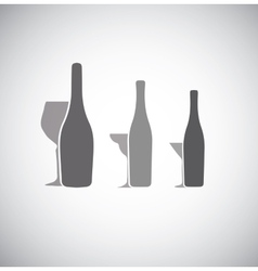 Glass collection vector
