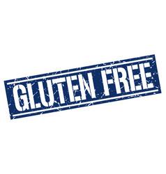 Gluten free square grunge stamp vector